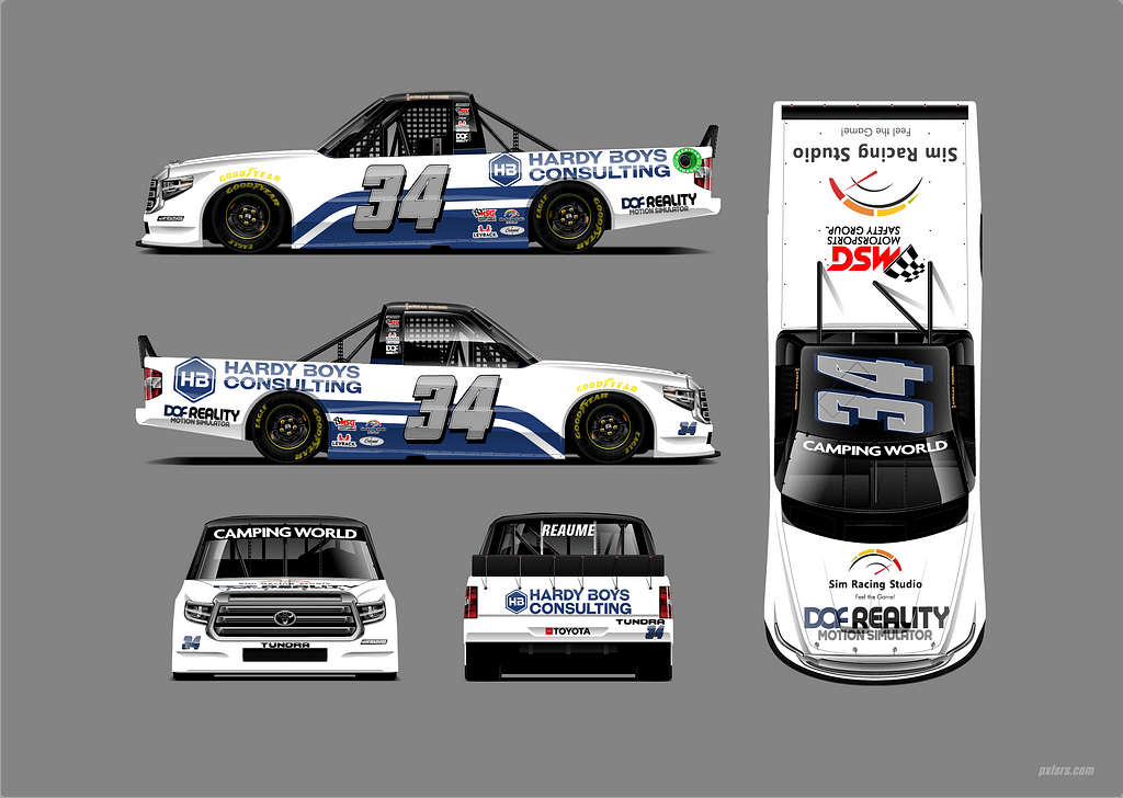 Reaume Brothers Racing Heads to Bristol With Hardy's Boys Consulting and New Partnership with Sim Racing Studio and DOF Reality